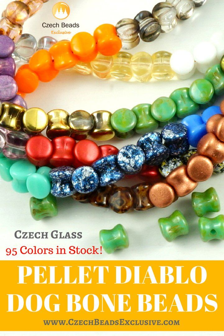 Czech Glass Pellet Diablo Dog Bone Beads  95 Colors in Stock! 4 x 6 mm Sizes! - Buy now with discount! www.CzechBeadsExclusive.com/+pellet  Hurry up - sold out very fast! SAVE them! #czechbeadsexclusive #czechbeads