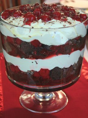 Black Forest Trifle with Duncan Hines and Comstock-Wilderness {Easy, easy and I get so many compliments for this!}