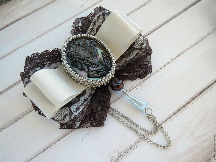 Купить Коллекция брошей Перламутровое ретро. - серый, коричневый, перламутровый, камея, камея с дамой, брошь