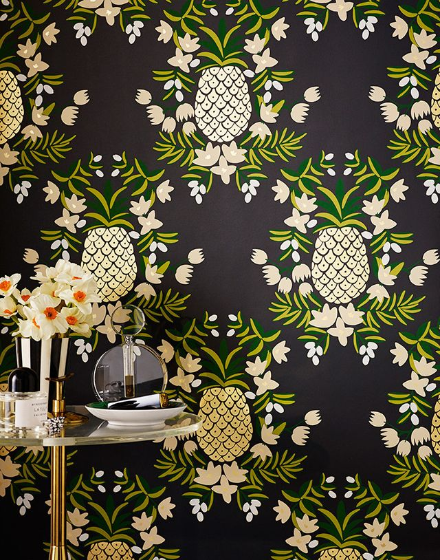 Pineapple wallpaper / Rifle Paper Co. x Hygge & West