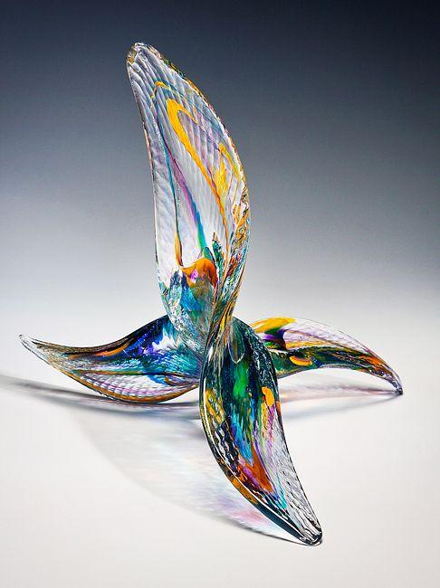 """*Art Glass - """"Mariposa Sculpture"""" by David Goldhagen beautiful"""