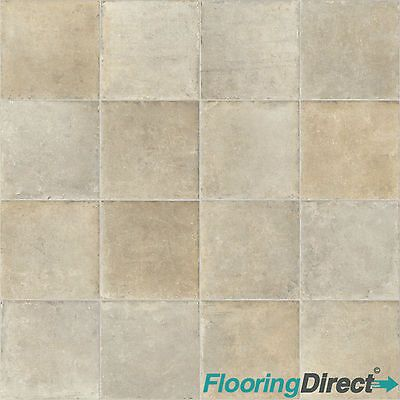 Tile Stone Effect Vinyl Flooring Kitchen Bathroom Cheap Lino Cushion Floor