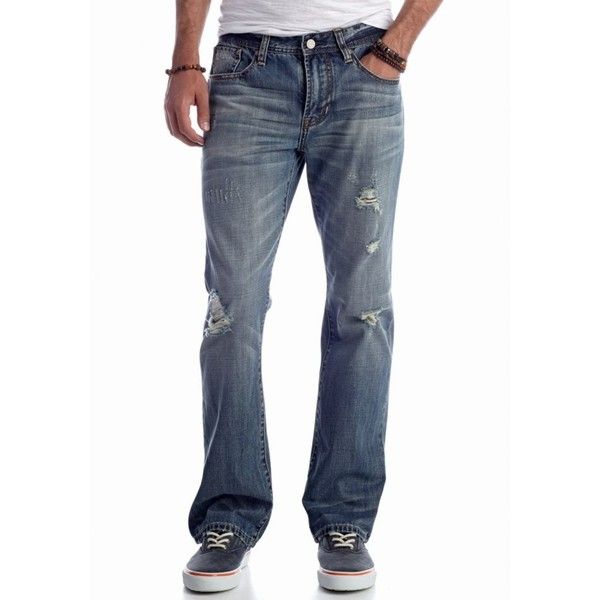 Mens bootcut jeans with holes
