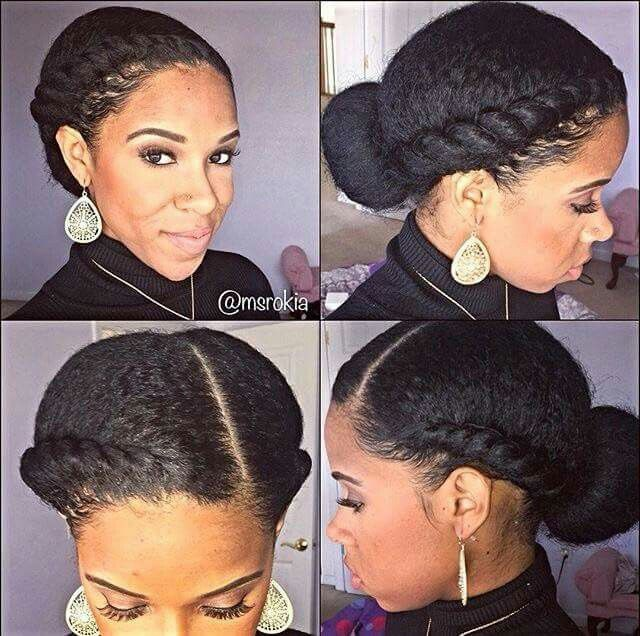 Two French Braids Natural Hair 84716 Loadtve