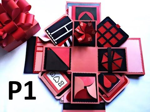 Explosion Box Tutorial Theme Valentine Black And