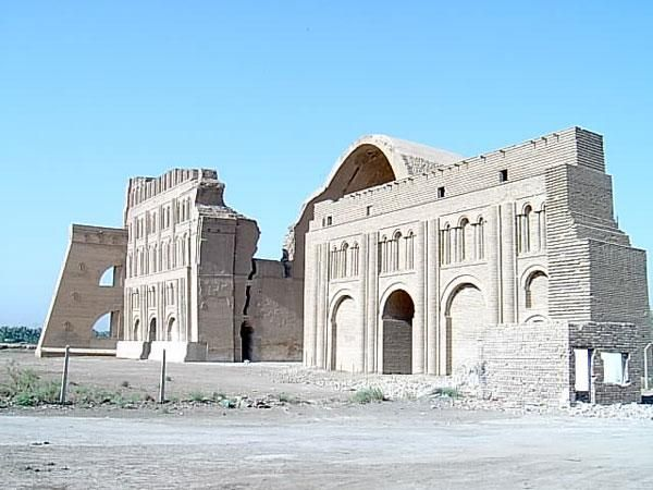 """""""Tisphone Palace"""" in the capital city of ancient Iran (today's Iraq) during Sasanian Dynasty"""