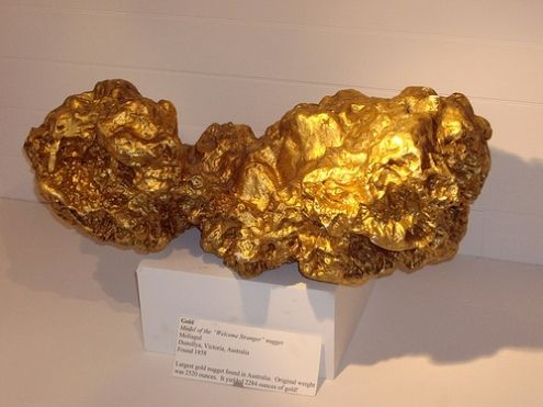 Gold Minerals Rocks | This is an example of a gold mineral found in the Canadian Shield