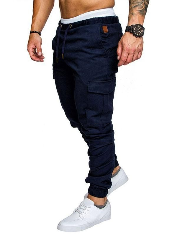 New Mens Sweatpants Quilted Joggers Jogging Skinny Slim Fit Stretch Cuffed