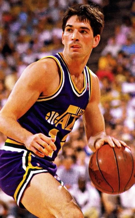 John Stockton Utah Jazz. Look at those shorts, Mike.