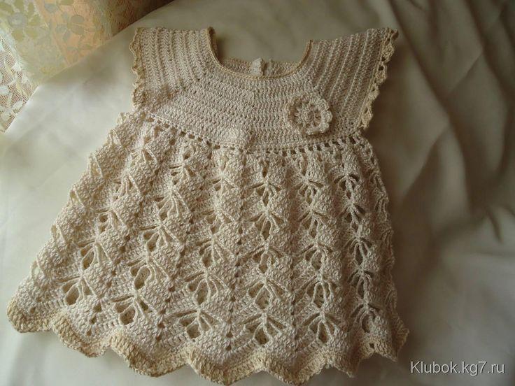 Ажурное платье для маленьких модниц. Мастер - Надежда Щеглова