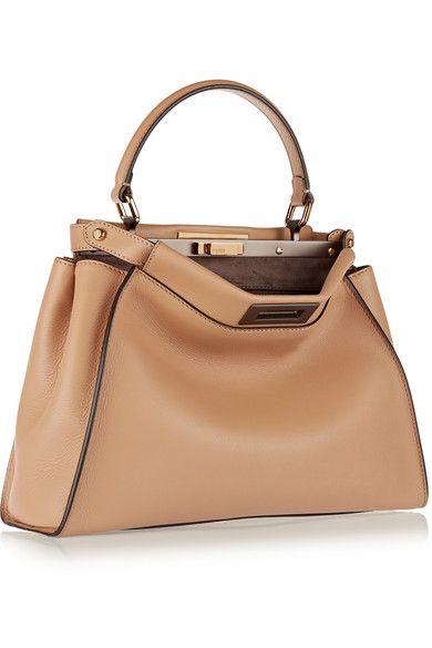 Fendi | Peekaboo medium leather tote | NET-A-PORTER.COM