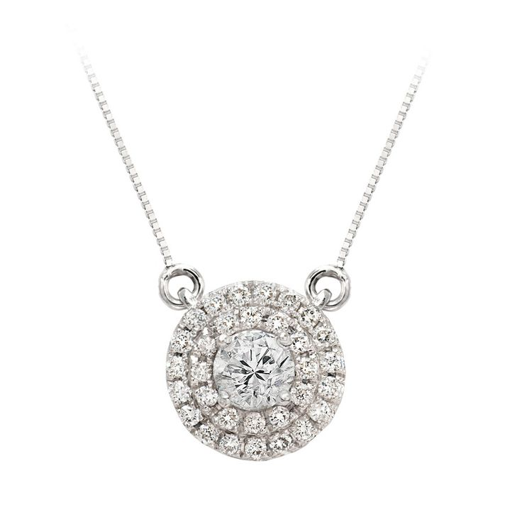 Spiral Diamond Pendant in 18k White Gold £1019 Vashi.com