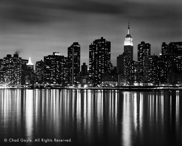 new york skyline black...