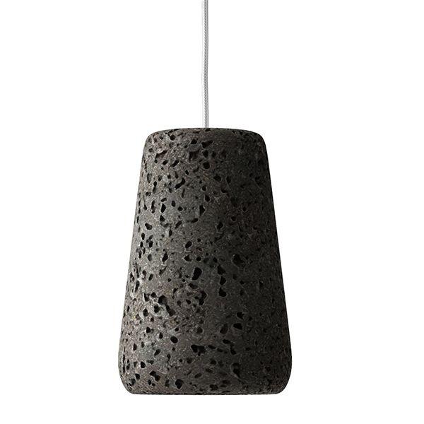 Lava stone lamp. Dark Pumice lava stone. Gray lava stone. #lavastone #lampdesign