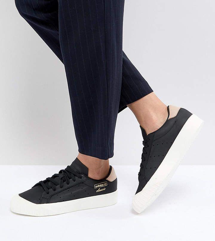 Adidas adidas Originals Everyn Sneakers In Black #adidas #adidasoriginals  #shoes #sportswear #