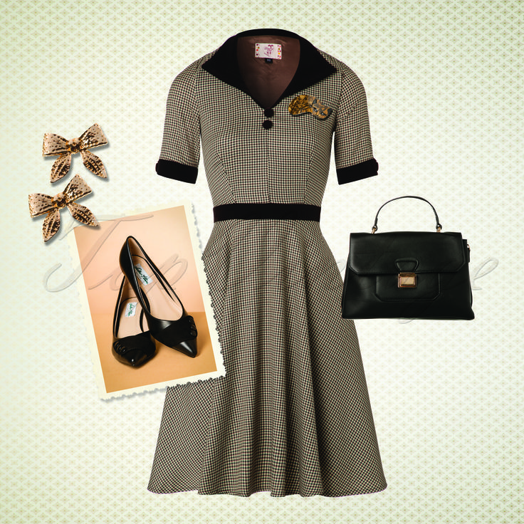 Relive former days in this beautiful 40s look!