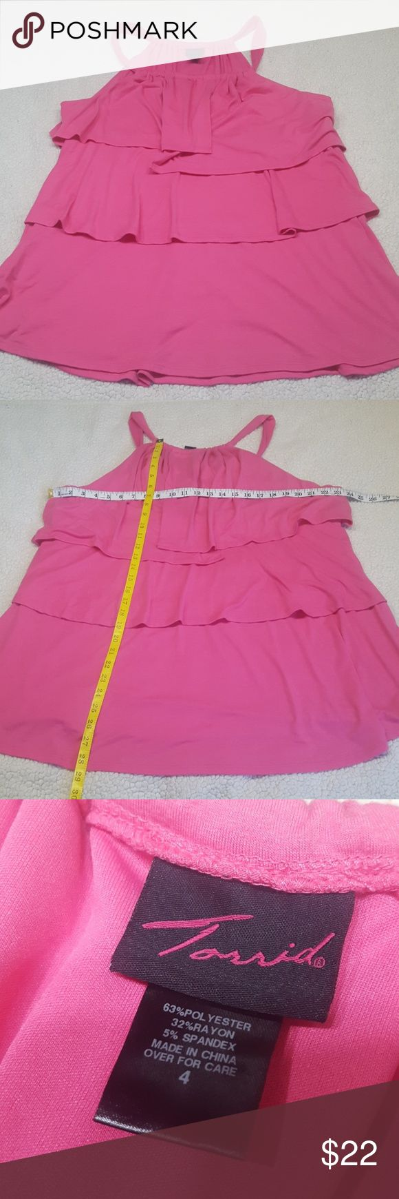 TORRID pink sundress size 4 TORRID pink sundress size 4 In great condition  Please be sure to look at measurements before purchasing(: torrid Dresses