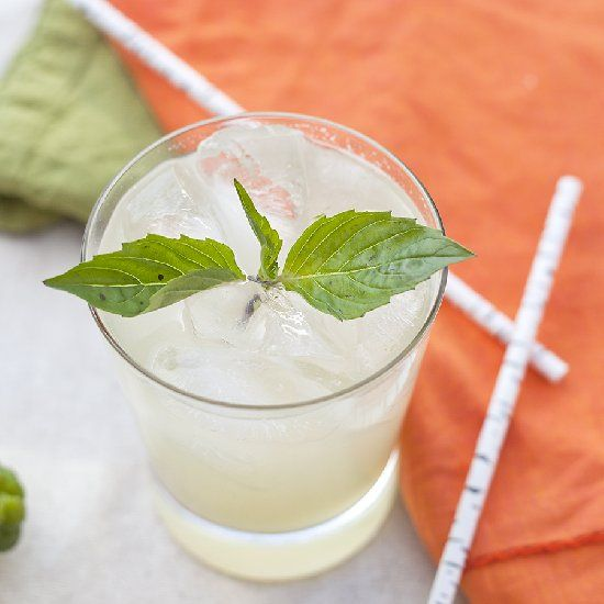 Ginger vodka meets lemongrass syrup, Thai basil and coconut water in ...