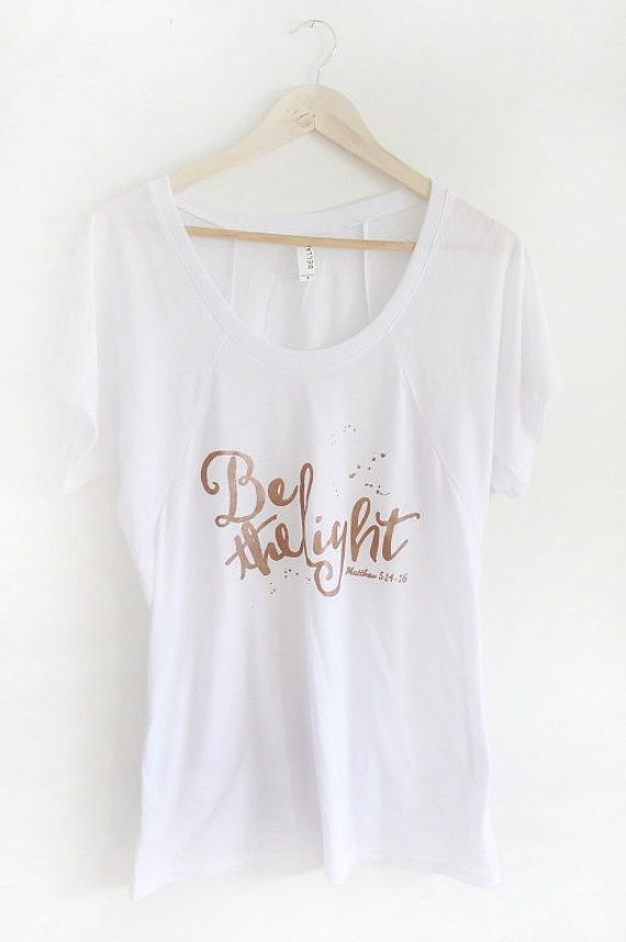 PREORDER WOMEN'S Be The Light T-shirt White with by OhTinyGifts