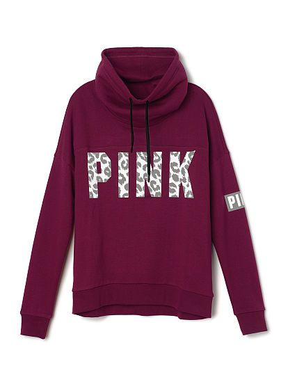 High-Neck Pullover - PINK - Victoria's Secret