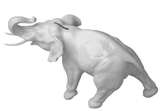 Elephant Moneybox [2005] Maxim Velcovsky for Qubus Porcelain