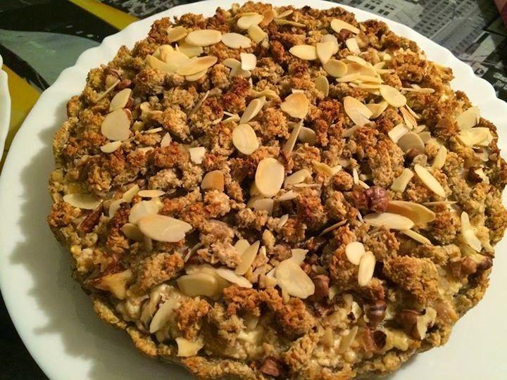 Fitnesz túrós-almás pite (kókuszreszelékből és zabpehelyből) ~ Éhezésmentes Karcsúság Szafival