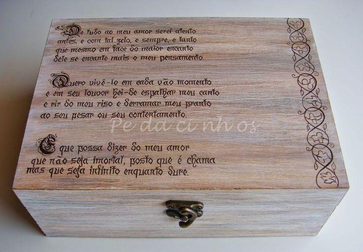 Pedacinhos de Arco Íris: Caixa votos de casamento - Soneto de Fidelidade (Vinicius de Moraes)