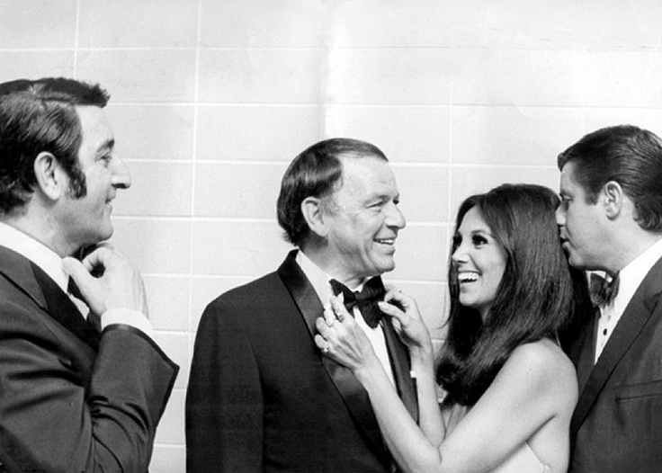 Danny Thomas, Frank Sinatra, Marlo Thomas & Jerry Lewis backstage before the Shower of Stars benefit concert, Memphis, TN, May 30, 1970