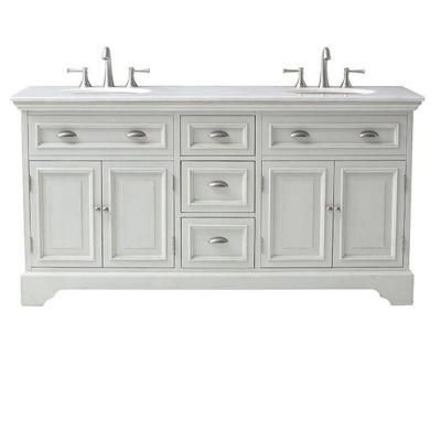 Home Decorators Collection Sadie 67 in. Double Vanity in Antique Cream with Marble Quartz Vanity Top in White-1666700450 - The Home Depot