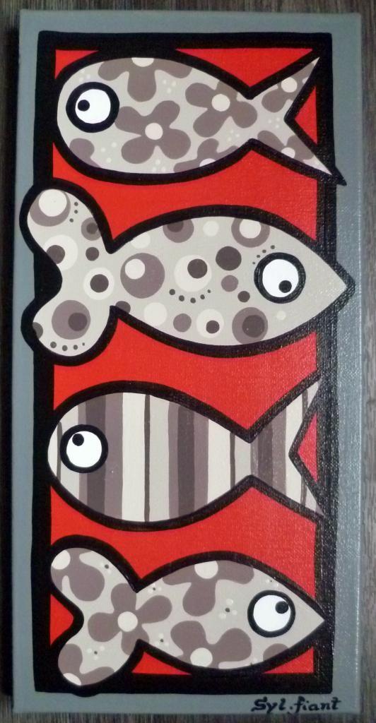 les petits poissons - 20x40 - vendu