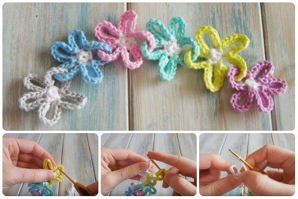 Tutorial DIY catena di fiori a uncinetto #crochet #flowers