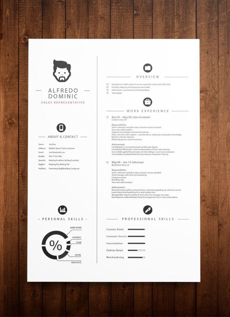 free resume sample template%0A                                  Best Cv Samples    Pinterest                            free  beautiful resume