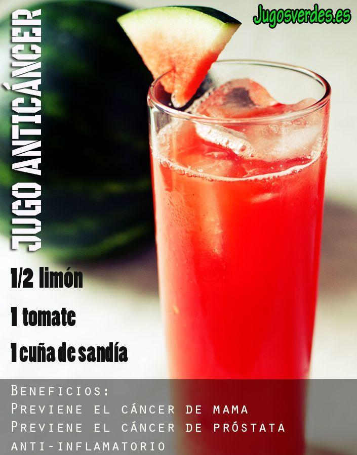 Mejores 53 im genes de jugos verdes y smoothies en pinterest smoothies bebidas saludables y - Alimentos contra el cancer de mama ...