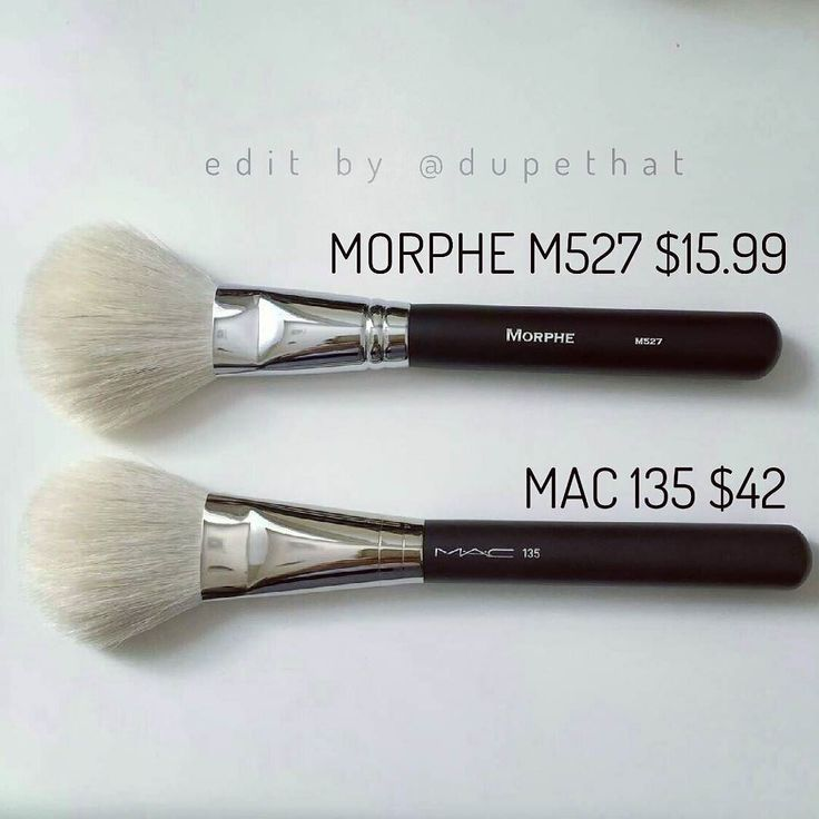 "@mrandmrsdomine found an amazing brush dupe! The @morphebrushes M527 ($15.99 - 10% off with code ""dupethat"") is almost identical to the MAC 135 ($42)! Tag us in your dupes for a chance to be featured! by dupethat"