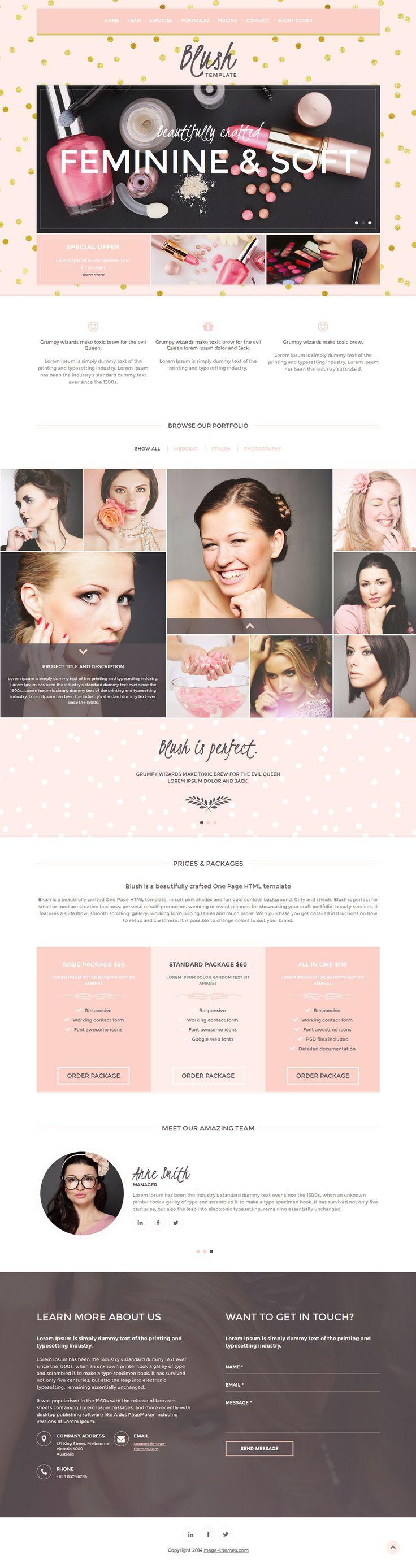 BLUSH multipurpose girly HTML template by pitrih.deviantart.com on @DeviantArt