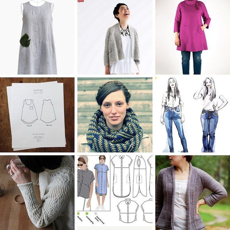 Making Goals for 2017 #2017makenine ...from top left Farrow Dress  Flaum Clare Coat Wiksten Tank  Pine Bough Cowl  Ginger Skinny Jeans Bright Sweater  Blair Shirt  Driven Pattern info on my blog page!  What do you want to make in 2017?