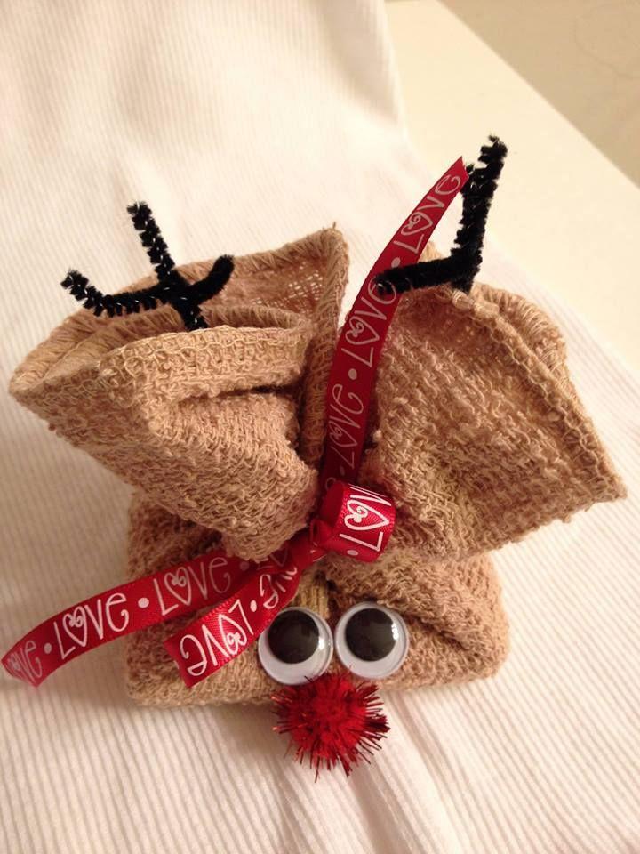 washcloth reindeer washcloth designs creations amp origami