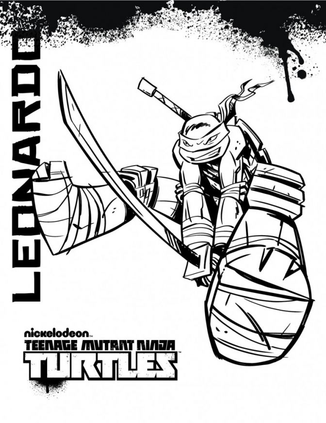 Teenage Mutant Ninja Turtles Coloring Pages My Board Pinterest