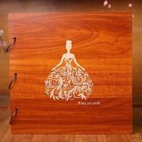 16 Inch Diy Wooden Photo Album Scrapbooking Homemade Gift Albums Photo Books Creative Birthday Gift Arts & Crafts for Couple/ Family