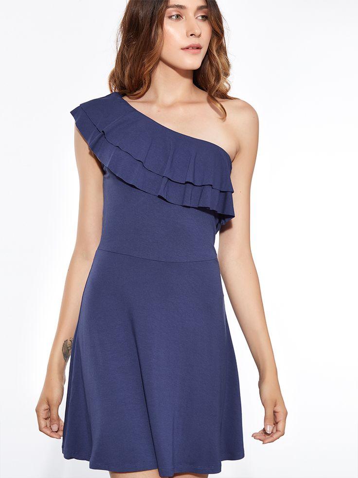 Κλος φόρεμα από βισκόζη με έναν ώμο