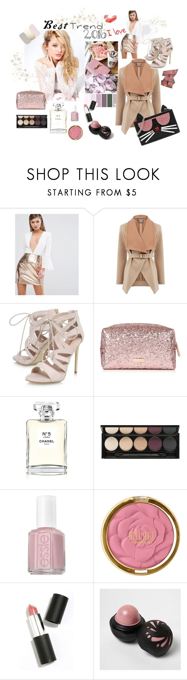 """""""Best Trend of 2016"""" by ruzi-78 ❤ liked on Polyvore featuring Silvana, Rare London, Oasis, Carvela, Chanel, Witchery, Essie, Sigma, River Island and Karl Lagerfeld"""