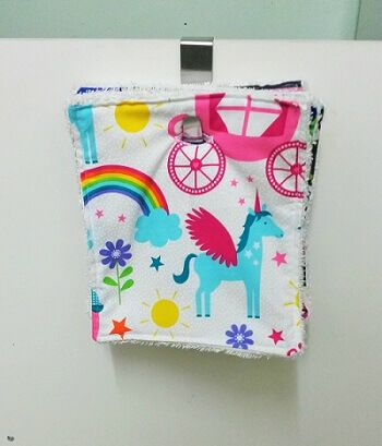 Kitchen Towel Roll Wipe Reusable Washable Eco Unpaper Tutorial Sewing Bee Fabrics Hanging