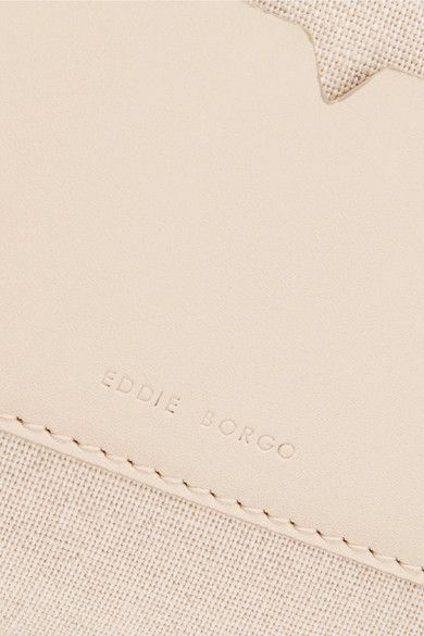 Eddie Borgo - Boyd Small Leather-trimmed Cotton-canvas Clutch - Cream - one size