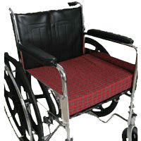 "Rose Healthcare Wheelchair Cushion, Plaid or Navy,  16"" x 16"" x 3"", Each, 4015 - http://healthandsciencestore.com/HealthStore/rose-healthcare-wheelchair-cushion-plaid-516675808/"