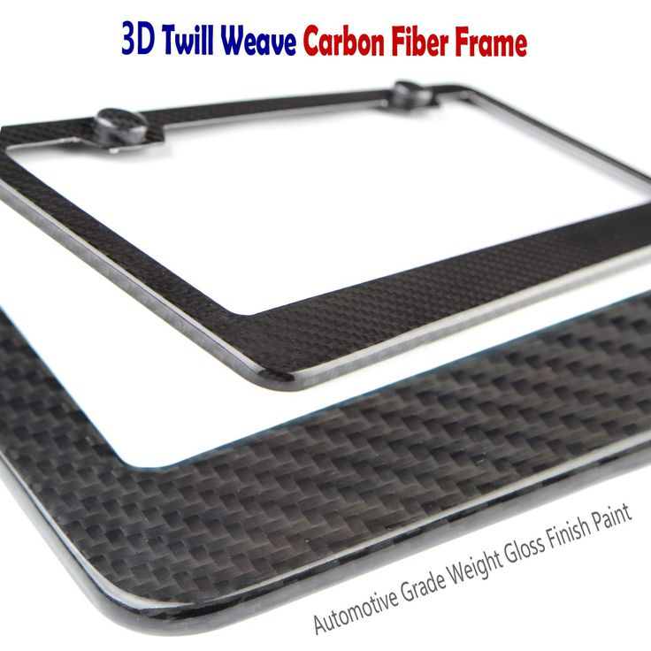 Carbon Fiber License Plate Frame 100 Real Carbon Fiber Overlays Aluminum License Plate Frames Stainless Steel License Plate Frames Plate Frames Carbon Fiber