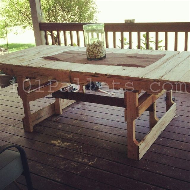 picnic table from pallets - Google Search