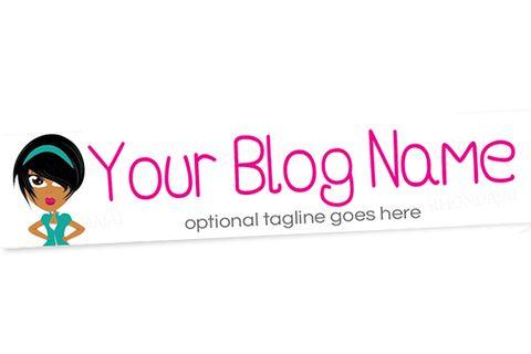 Blog Header Banner Design - Female Cartoon Character Six - A