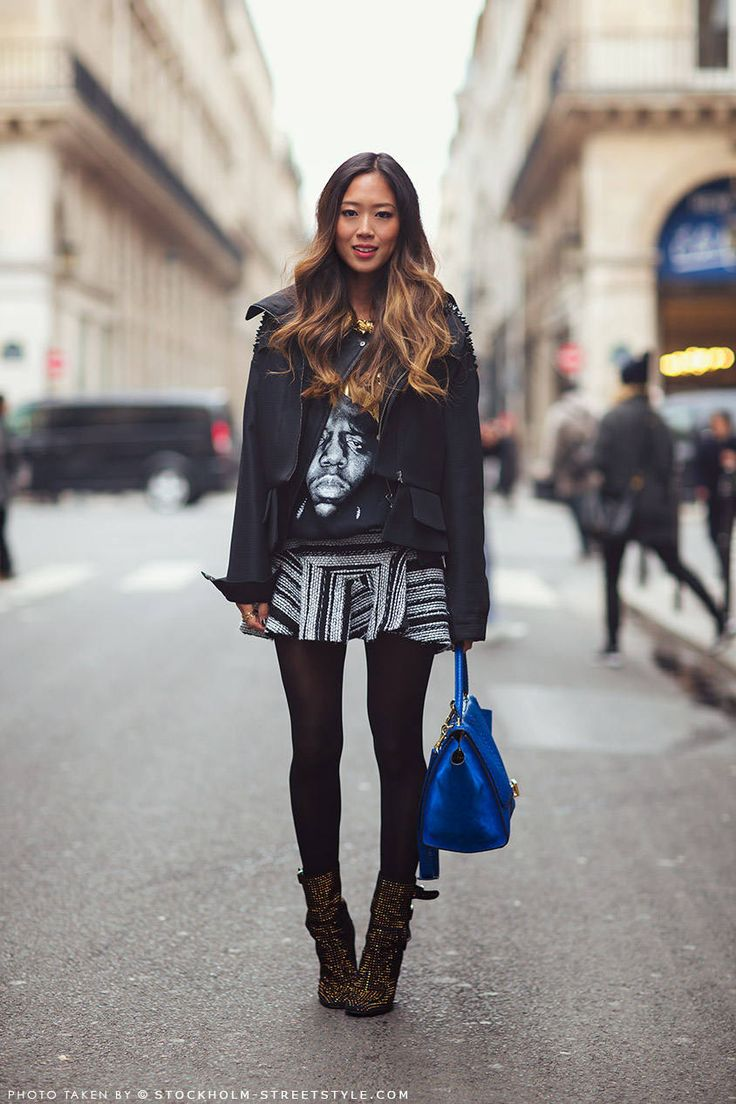 Leather jacket song - Aimee Song Leather Jackets Graphic Skirts