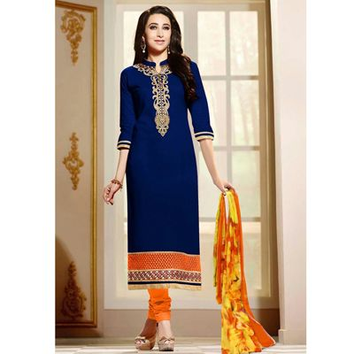 Buy NVD ENTERPRICE Blue Faux Georgette Dress Material by NVD ENTERPRICE, on Paytm, Price: Rs.604?utm_medium=pintrest