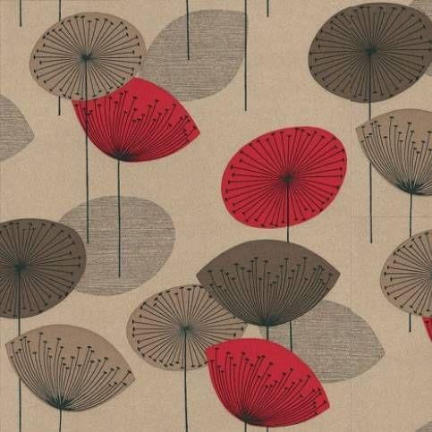 Red Brown Pale Gold - DOPWDA101 Dandelion Clocks Options 10 Sanderson Wallpaper